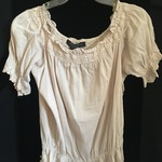 Guess Beige Eyelet Peasant Blouse is being swapped online for free