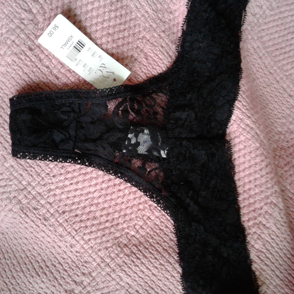 NWT N.Y. and Co. Thong Lacey Panties XS is being swapped online for free