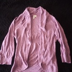 Cute purple cardigan  is being swapped online for free