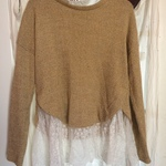 NWOT super cute sweater with lace is being swapped online for free