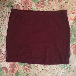 Basic burgundy pencil skirt  is being swapped online for free
