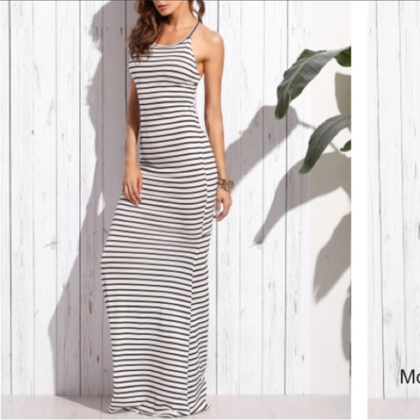 Black and White Striped Dress Size Small is being swapped online for free