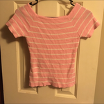 Small Pink and White Striped Top is being swapped online for free