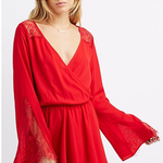 Charlotte Russe Sexy Red Lace-Trim Surplice Romper is being swapped online for free