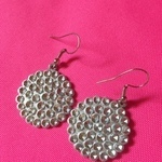 Silver plated earrings  great condition is being swapped online for free