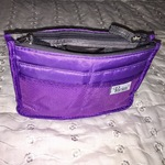 Purple purse organizer (small size purse) is being swapped online for free