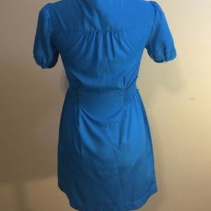 Banana Republic Blue Lace-up dress (sz. extra small) is being swapped online for free