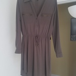 Olive green blouse dress  is being swapped online for free