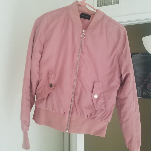 Blush pink jacket  is being swapped online for free