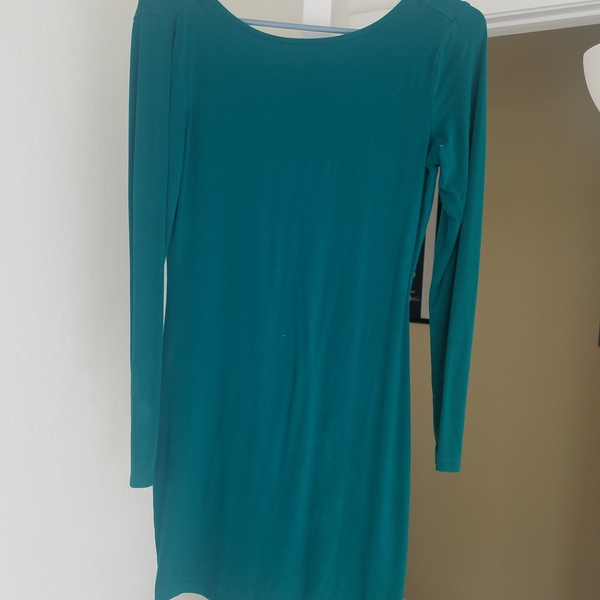 Teal mini dress  is being swapped online for free