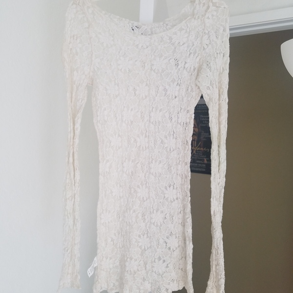 Off white sexy lace mini dress is being swapped online for free
