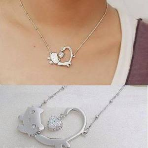 Brand New ! cute Cat Necklace :) is being swapped online for free