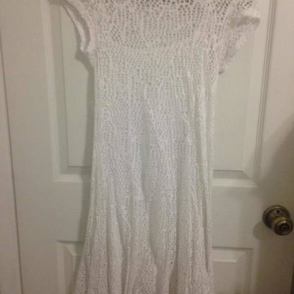 Cato White Lace Dress Size small (Very see through) is being swapped online for free