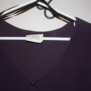 Gorgeous Dark Plum mid-length dress size 14 is being swapped online for free