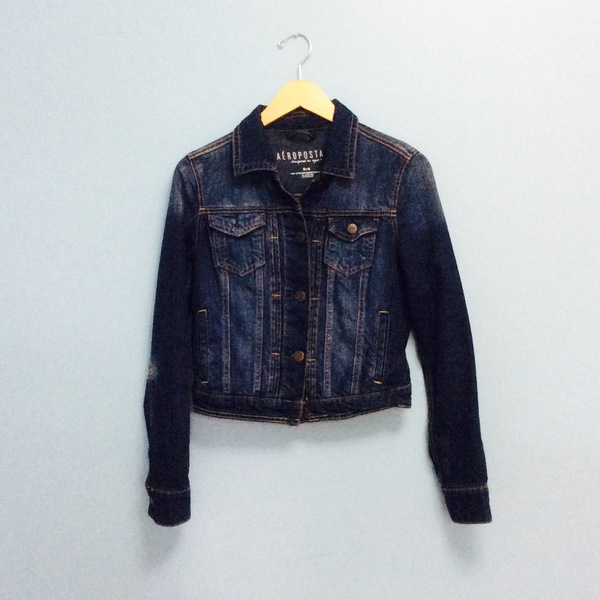 NEW Aeropostale Denim Jacket Womens Size M is being swapped online for free