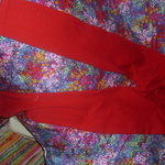 Red cotton leggings size large is being swapped online for free