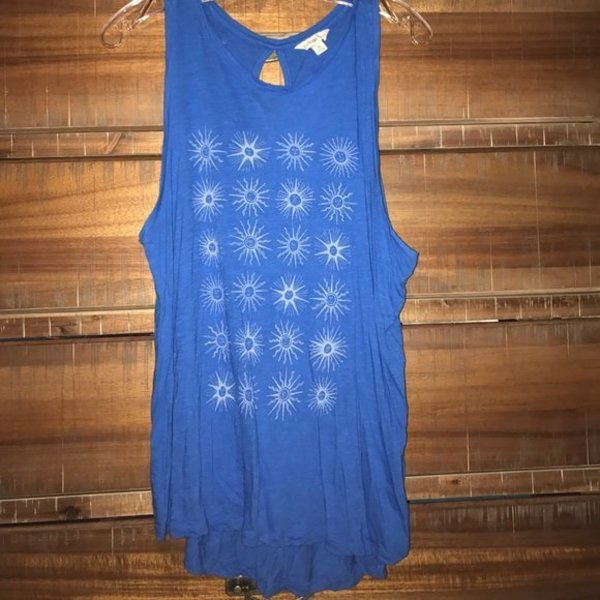 urban outfitters Lucky Lotus moon long tank top SIze M is being swapped online for free