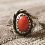 Vintage Native American Coral Ring  is being swapped online for free