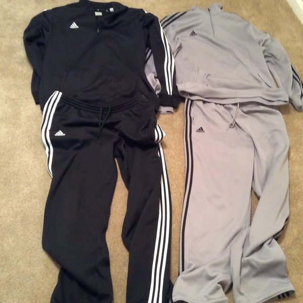 Adidas men's XL jacket and pants is being swapped online for free