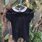 Zara Black Mesh Blouse  is being swapped online for free