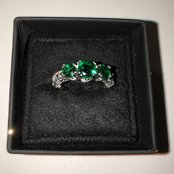 Sterling Silver & Simulated Emerald Ring is being swapped online for free