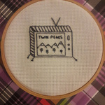 Twin Peaks minimalist cross stitch is being swapped online for free
