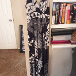 Black and white long dress is being swapped online for free