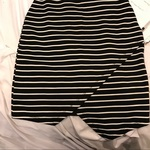 Asos striped asymmetrical navy dress size M Kylie jenner style is being swapped online for free