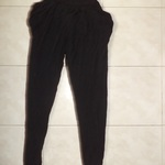 Shasa black jersey harem pants size M is being swapped online for free