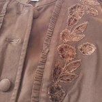 Brown Embroided Jacket is being swapped online for free