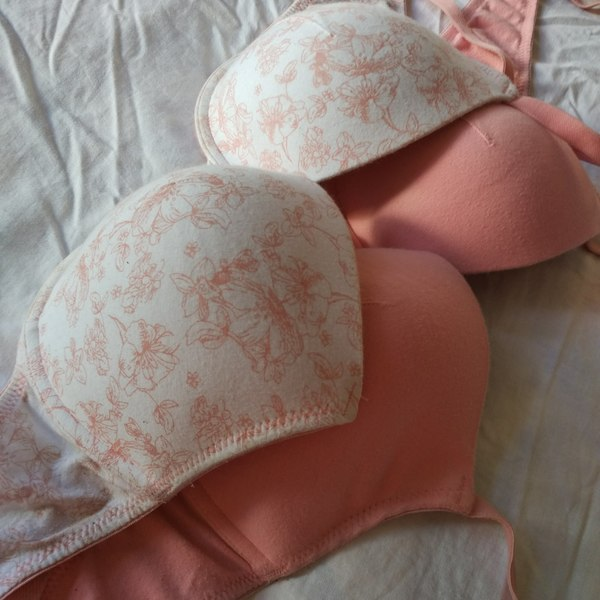2 Soft Cotton Unpaded Bras is being swapped online for free