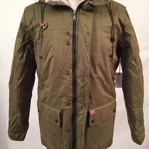 Globe Puffy Parka Hooded Jacket Hobson Olive Size M Faux Fur Sherpa is being swapped online for free
