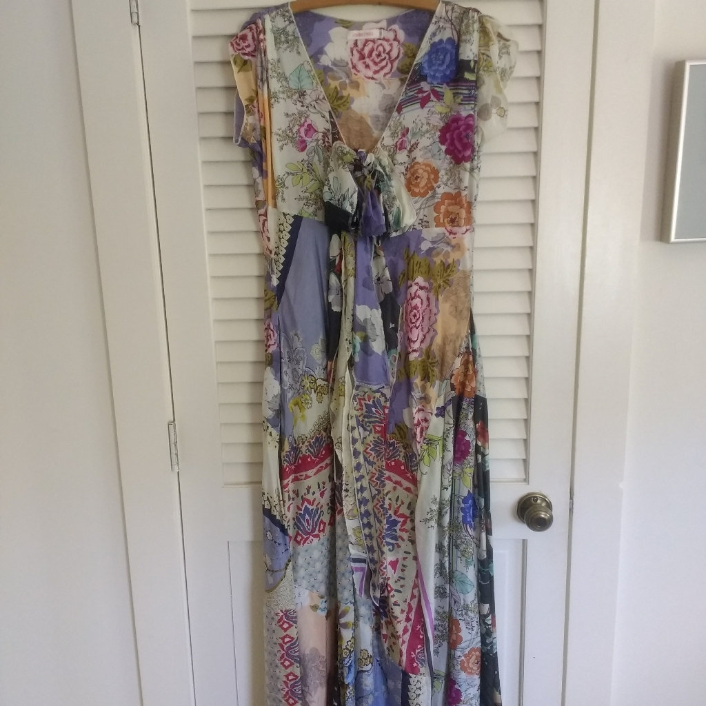Johnny Was Silk Maxi Dress Xs Available For Free Online Swapping