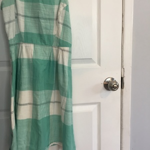 Plaid Spaghetti Strap Dress in Pastel Green is being swapped online for free