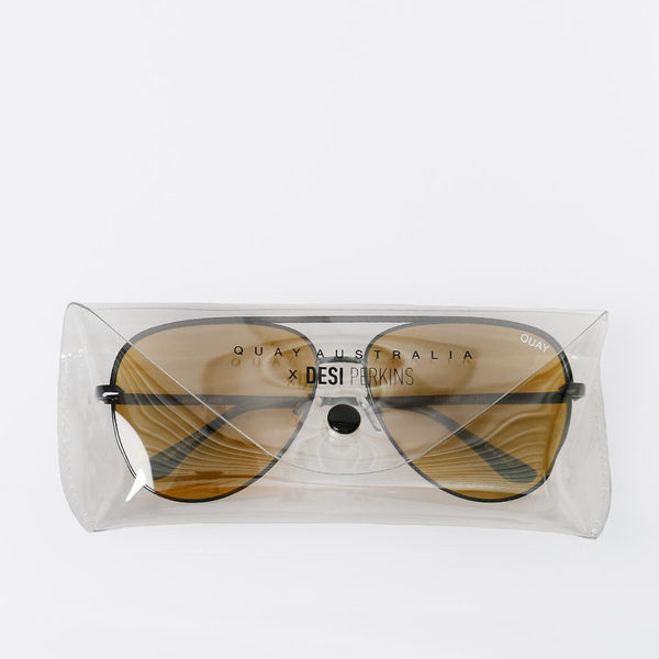 Quay x Desi Perkins Sahara Sunglasses Olive is being swapped online for free