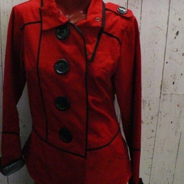 Awesome !!! Red Automn or Spring Jacket by the brand SCHWIING  is being swapped online for free