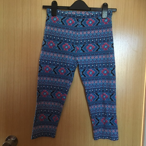 Blue and Pink Aztec Print Leggings UK 10 TU is being swapped online for free