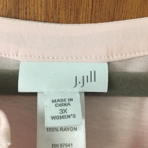 Lt pink J Jill blouse  is being swapped online for free