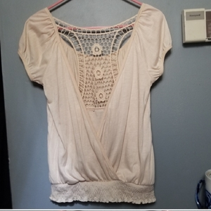 Crocheted Boho Top Sz L is being swapped online for free