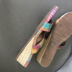 Size 12M Multicolor Sandals with Cork Heel is being swapped online for free
