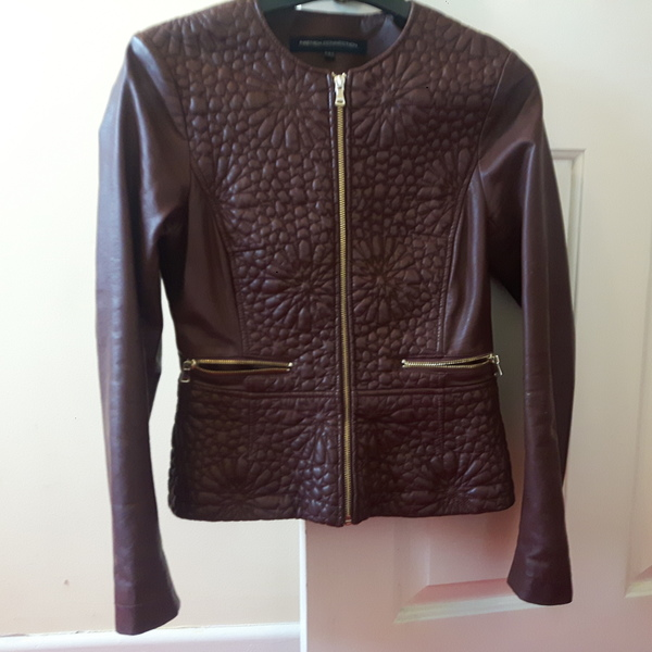 French Connection faux leather jacket - dark brown/dark cognac is being swapped online for free