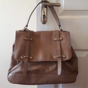 Beige Leather Bag is being swapped online for free