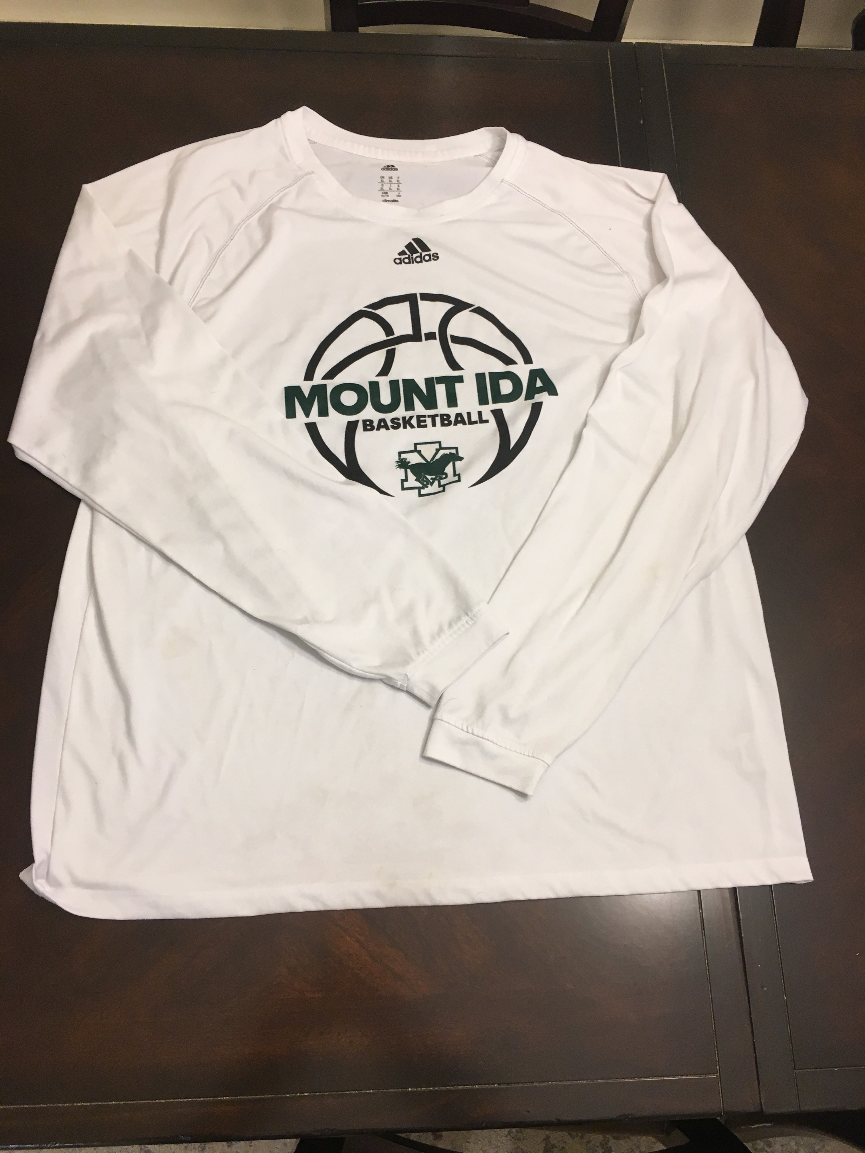Abstracción Persistente Cerdito  Mount Ida College Basketball Long Sleeve T-Shirt ~ Adidas ~ Climalite  Available for Free Online Swapping :: Rehash