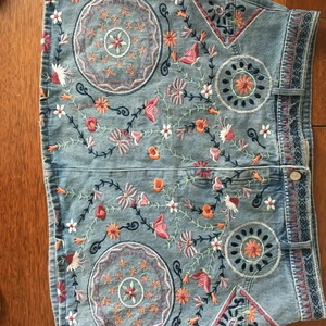 Floral Denim Skirt  is being swapped online for free