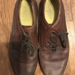 Men's brown leather shoes is being swapped online for free