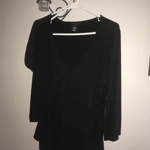H&M v-neck black top Size large is being swapped online for free