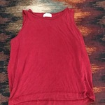 Burgundy colored Zara Tank Top is being swapped online for free