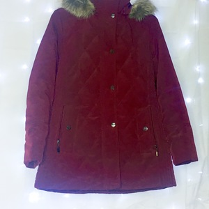 Long puffer coat - maroon is being swapped online for free