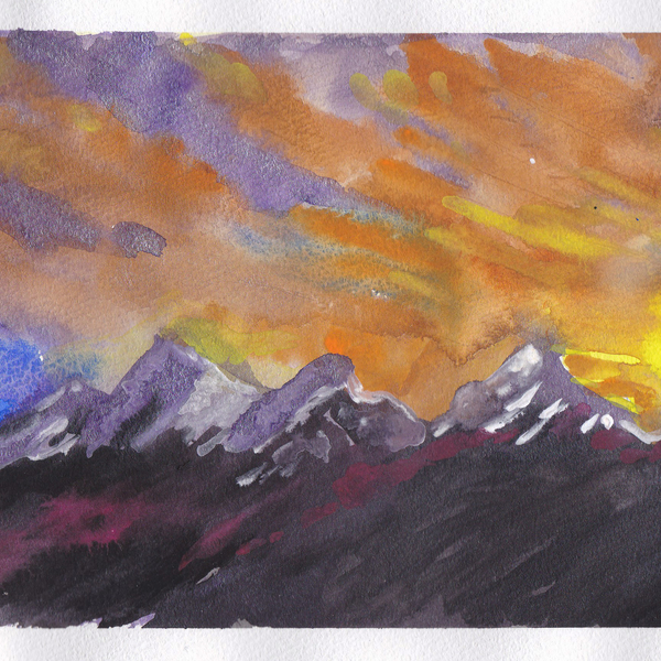 Expressionist Landscape | Gouache painted | ART is being swapped online for free