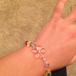 Beaded bracelet with flower is being swapped online for free